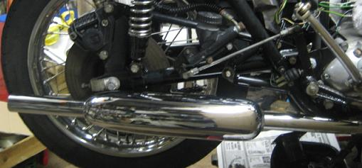 Triumph meriden motorcycle exhaust pipes and silencers